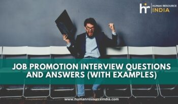 Common Job Promotion Interview Questions And Answers With Examples